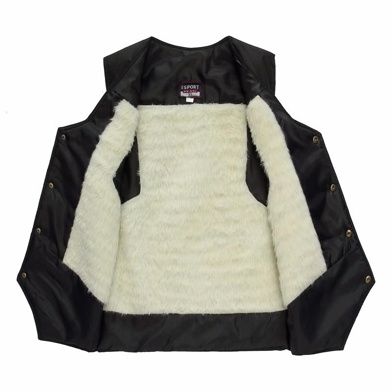 Man Elegant Herringbone Vest Elderly Men\'s Black Gilet Thicken Warm Fleece Vests Male Slim Fit Waistvest Sleeveless Coat XL 2XL (2)