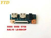 오리지널 DELL 5555 5558 5758 USB 보드 오디오 보드 AAL10 LS-B843P 테스트 됨 무료 배송