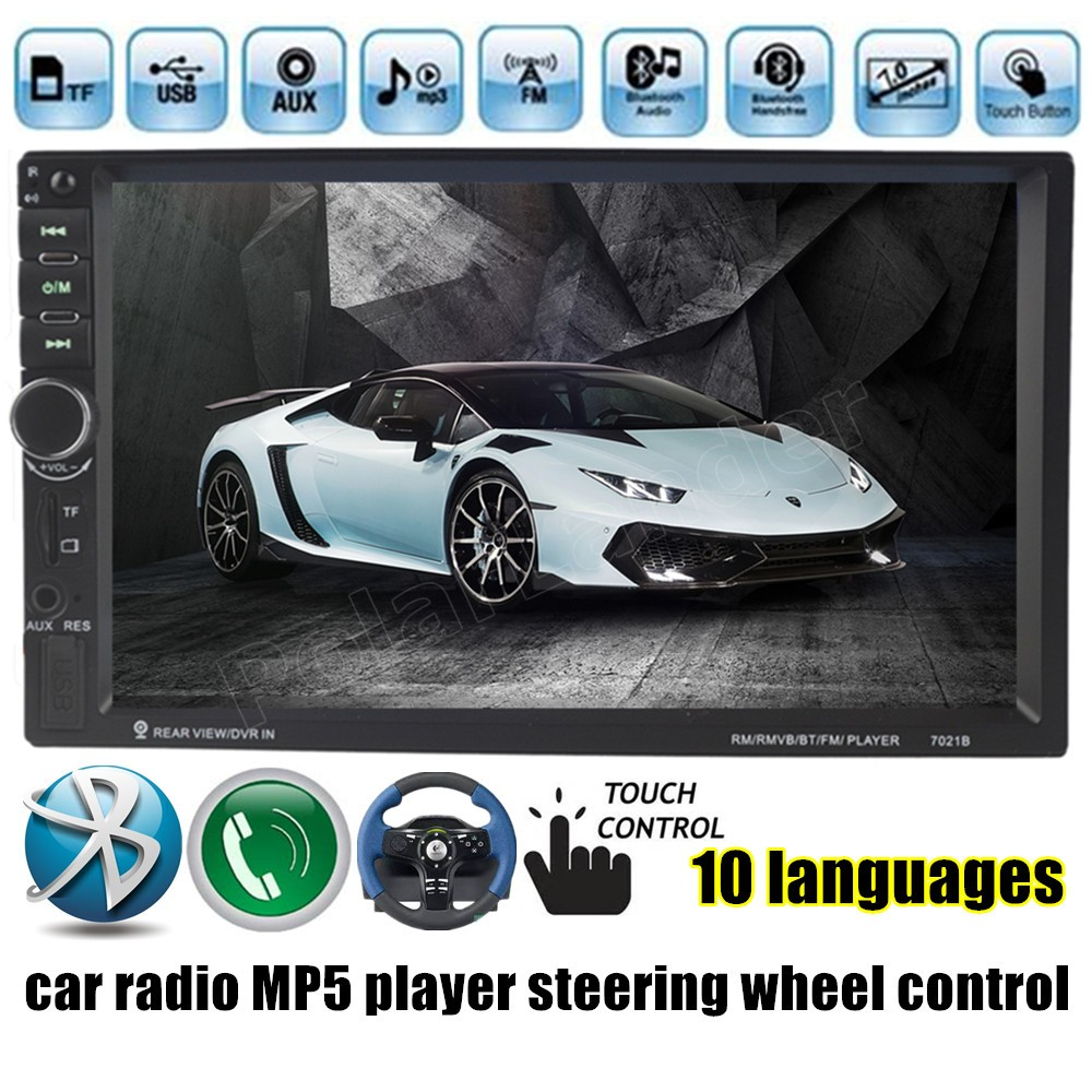 US $38 47 20% OFF|Autoradio Car Radio auto tapes MP5 Player FM Stereo video  USB radio cassette player DVR touch screen Bluetooth 7 inch 2 din -in Car