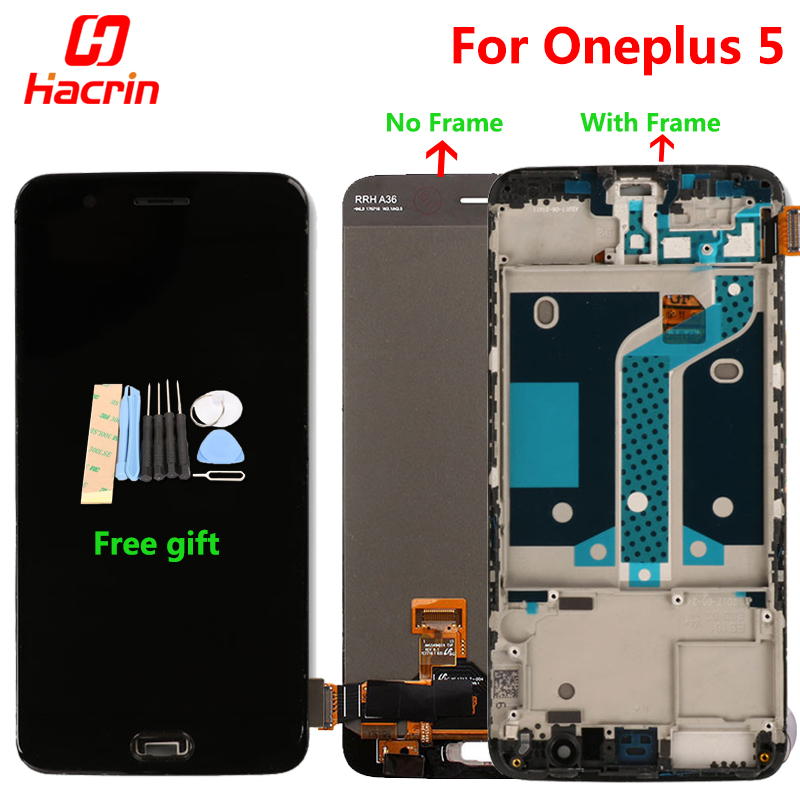 Oneplus 5 LCD display Touch Screen Digitizer Premium Assembly Replacement for One Plus Five 5 5