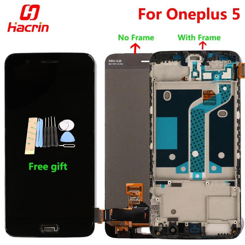Oneplus 5 ЖК дисплей + сенсорный экран планшета Премиум сборки Замена для One Plus Five 5,5 дюймов 6 ГБ 8 ГБ оперативная память