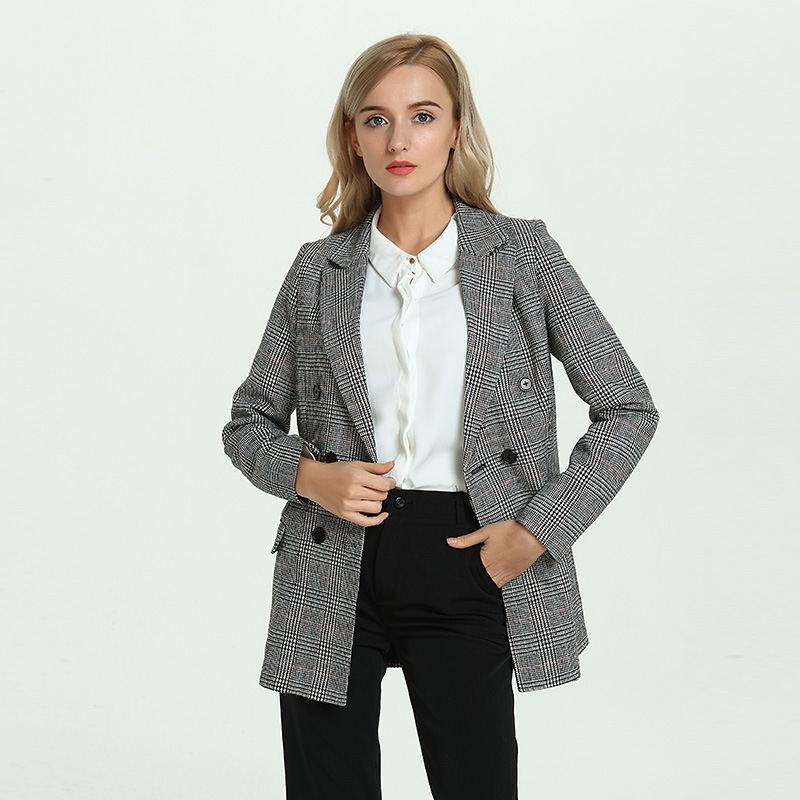 TOP QUALITY New Fashion 2018 Designer Blazer Jacket Womens Double Breasted Metal Lion Bu ...