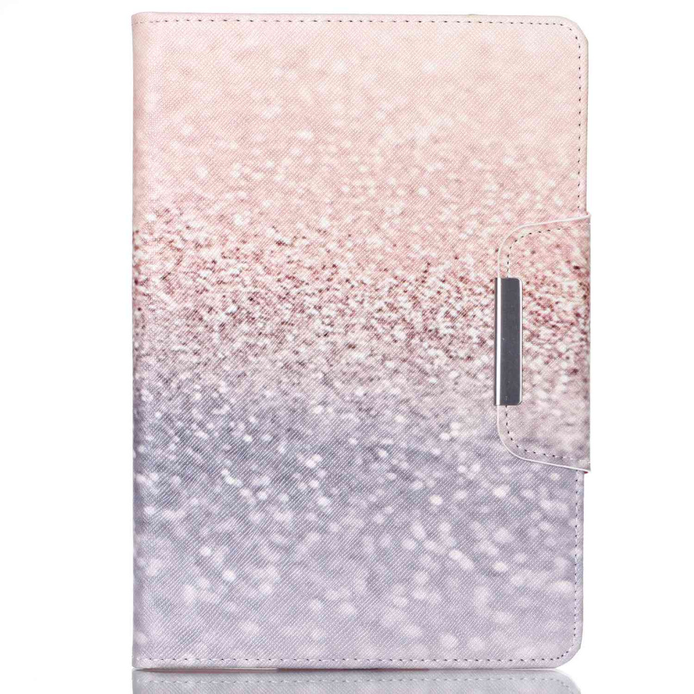 Fashion Pu Leather Cute Cover Case For IPad Mini 1/2/3 Golden Sands Pattern Magnetic Cases for ipad mini Free Shipping