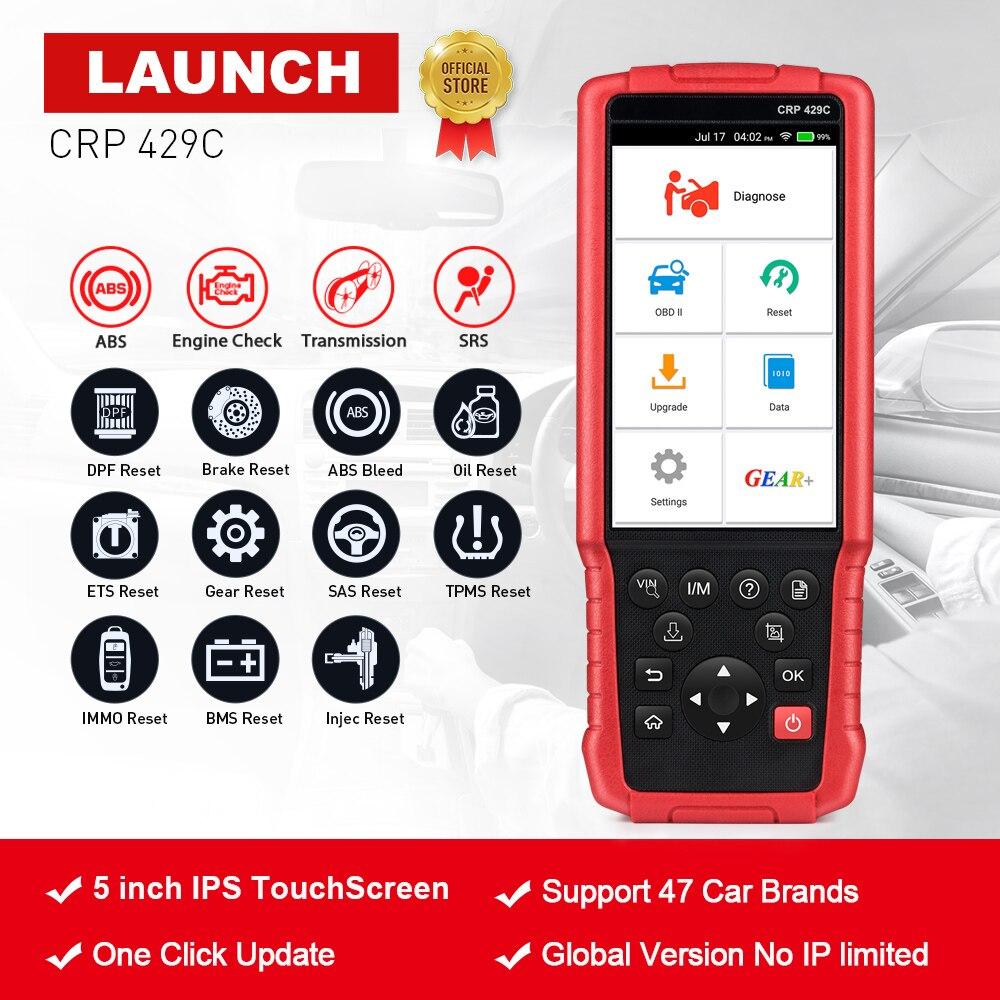 LANCEMENT X431 CRP429C OBD2 Code Lecteur Scanner pour Moteur/ABS/SRS/À + 11 Réinitialiser Service Creader CRP429 Voiture Outil De Diagnostic pk CRP129