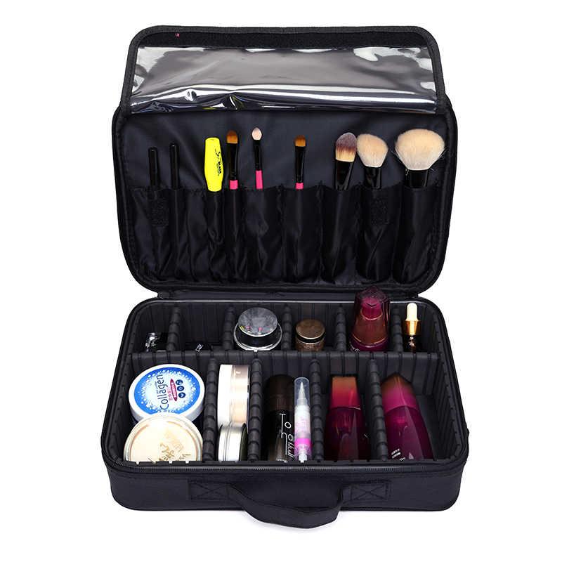 2019 профессиональный макияж мешок Для женщин косметички и дело Высокое качество Оксфорд женский корейский макияж коробка большая Ёмкость мыть мешки
