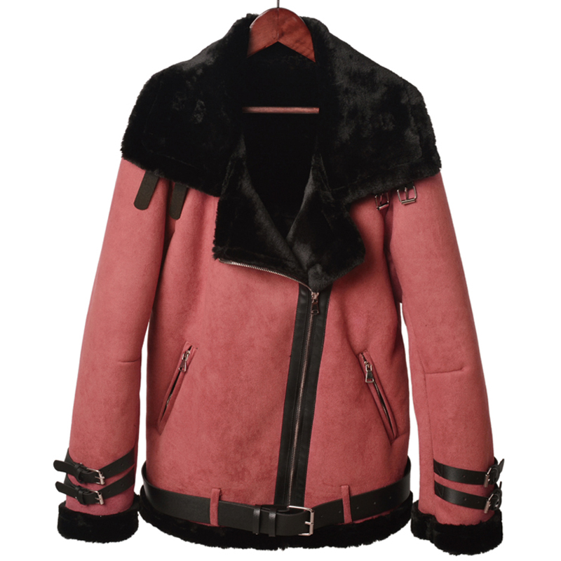 Russian Winter Style Woman Fur Lined Jackets and Coats Brand Designer Automotive Sheepskin Overcoats Women XXXL