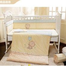 Promotion! Velvet New Arrival Cheap Good Quality Baby Bedding Set for Girls Crib,Cot Quilt Bumpers,(bumper+sheet+pillow+duvet)