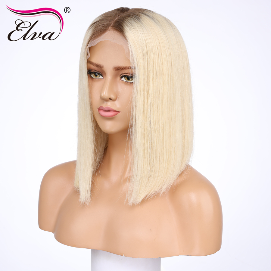 Short Human Hair Wigs For Black Women Brazilian Lace Front Wig With Pre Plucked Baby Hair