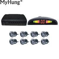 Car Parking Sensor 8 Sensors Buzzer Backup Radar Detector System Reverse Sound Alert 4 Colors To