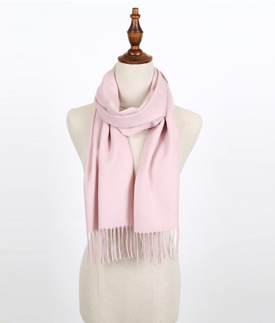 Bufandas de invierno para las mujeres Pashmina bufanda de la cachemira de lana femenina Sólido ponchos y capas caliente wrap foulard femme