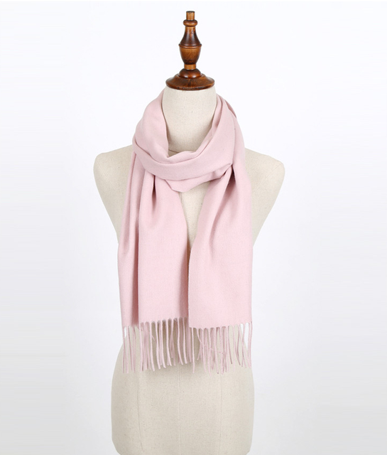 winter scarves for women Solid Pashmina female wool scarf cashmere ponchos and capes warm wrap foulard femme