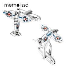 Memolissa 3 пары запонки в виде летательного аппарата мужские