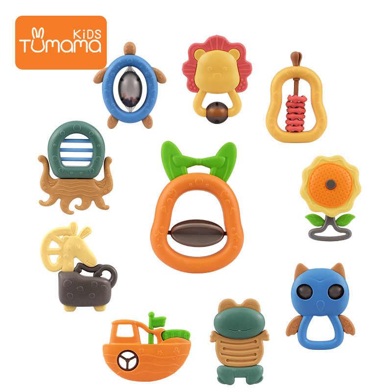 Tumama переносные детские погремушки, Прорезыватель для зубов, 4 шт.-11 шт., милая музыкальная Колокольчик для малышей, колокольчик, кровать, кроватка, кукла младенца, подарки