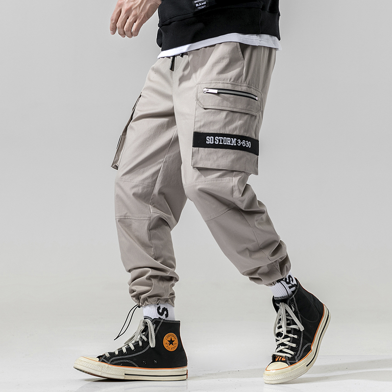 Good High Quality Casual Pants Brand New 2019 Spring Joggers Streetwear Side Big Pockets Design Cargo Pants Men Clothes All Match 3xl Pants