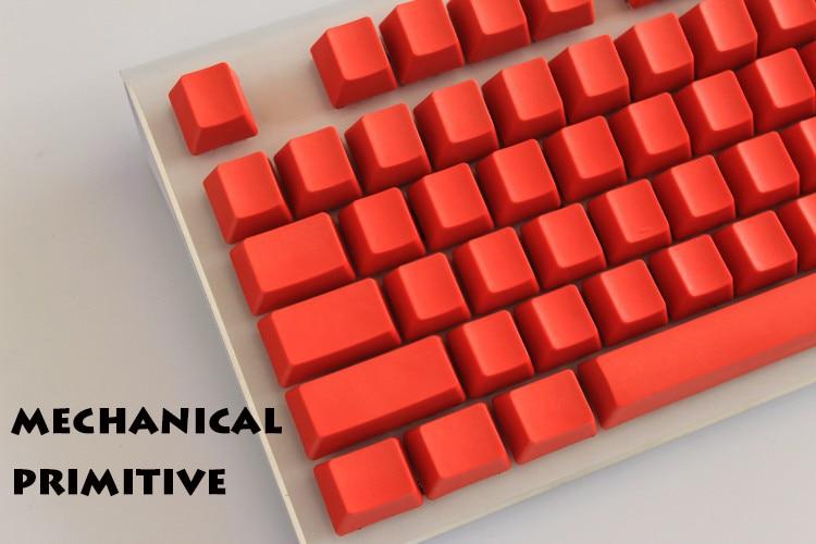 MP 108/87 Keys Thicken PBT Röd Blank Keycap High Wear Resistance OEM Profil Keycaps För Körsbär MX Switch Mekanisk Tangentbord