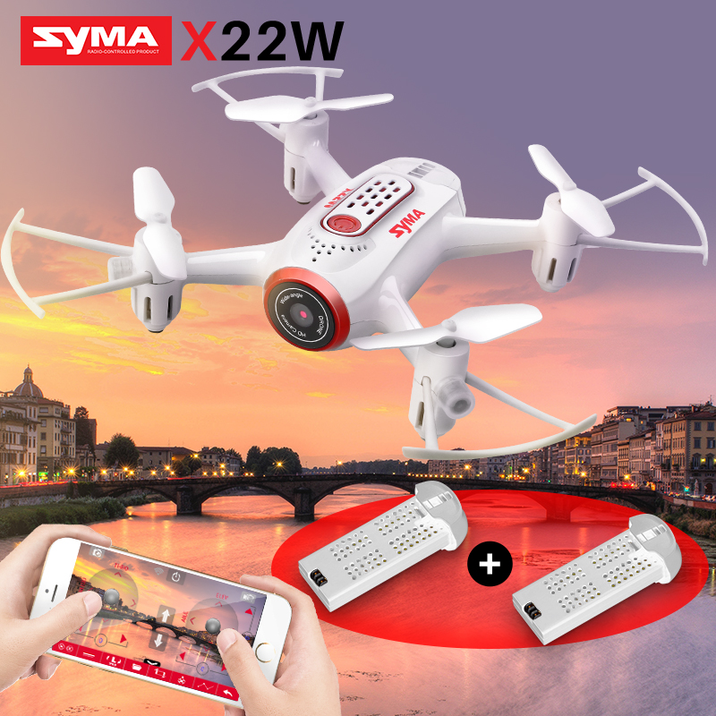 SYMA X22W RC Drone With Camera FPV Wifi Real Time Quadrocopter RC Helicopter Mini Pocket Drones Headless Mode Toys For Children