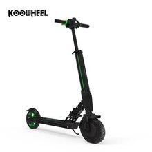 Koowheel Новый электрический скутер 8,5 «твердые шины складной электрический Ховерборд удар скейтборд с легкий приложение для детей и взрослых