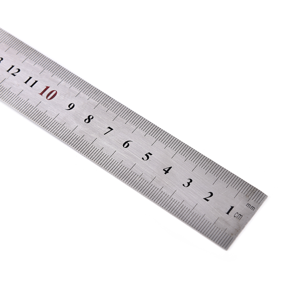 1pc Straight Stainless Steel 90 Degrees Metric Scales Rulers Square Ruler School Office Stationery 150x300mm*1.2mm