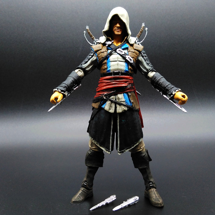 SAINTGI Assassins Creed 4 Black Flag Edward Washington James Kenway Anime Game Figurine PVC Action Figure Model Toy 15cm opp bag
