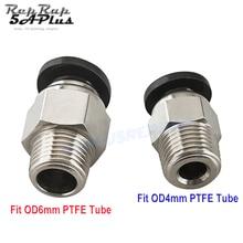 PC4-01 PC6-01 Pnömatik Konnektörler Uzaktan Için V6 V5 J-kafa Bowden 1.75/3mm PTFE Tüp Hızlı Çoğaltıcı fit Hotend 3D Yazıcı Parç...