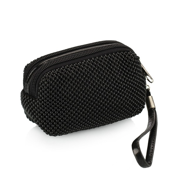 KEENICI Korean Version  Zipper Handbag Dot Mini – Style Dinner Banquet Multi – Functional Bags Aluminum Casual Day Clutches