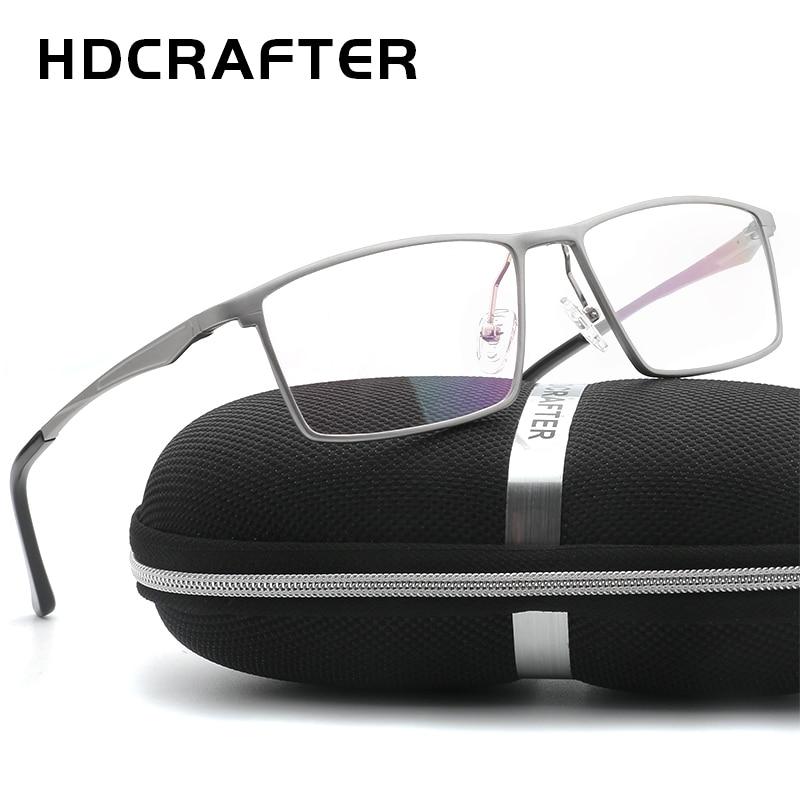 HDCRAFTER Men Women Optical Frames Eyeglasses Frames Commercial Glasses Fashion Eyeglasses Prescription Aluminum Frame
