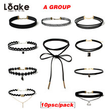 Loake Chokers Necklaces For Women Jewelry Punk Style Pendant Lace Black Velvet Choker Collar Party Bijou Leather Accessories