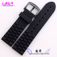 Correa de caucho de silicona reloj accesorios Universal reloj de hombre 23 mm negro