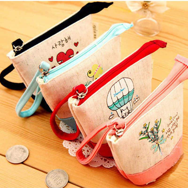 coin purse coin bags zipper pouch party supplies small wallet New Fashion Cartoon Canvas Women Casual Purses Money Bag rosediary england impressions canvas girls mini coin purses vogue classic coin wallet case with zipper small money bags