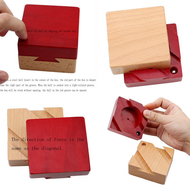 High Quality Wooden Magic Box Puzzle Game Luban Lock IQ Toys For Children Adult Educational Toys Brain Teaser Game