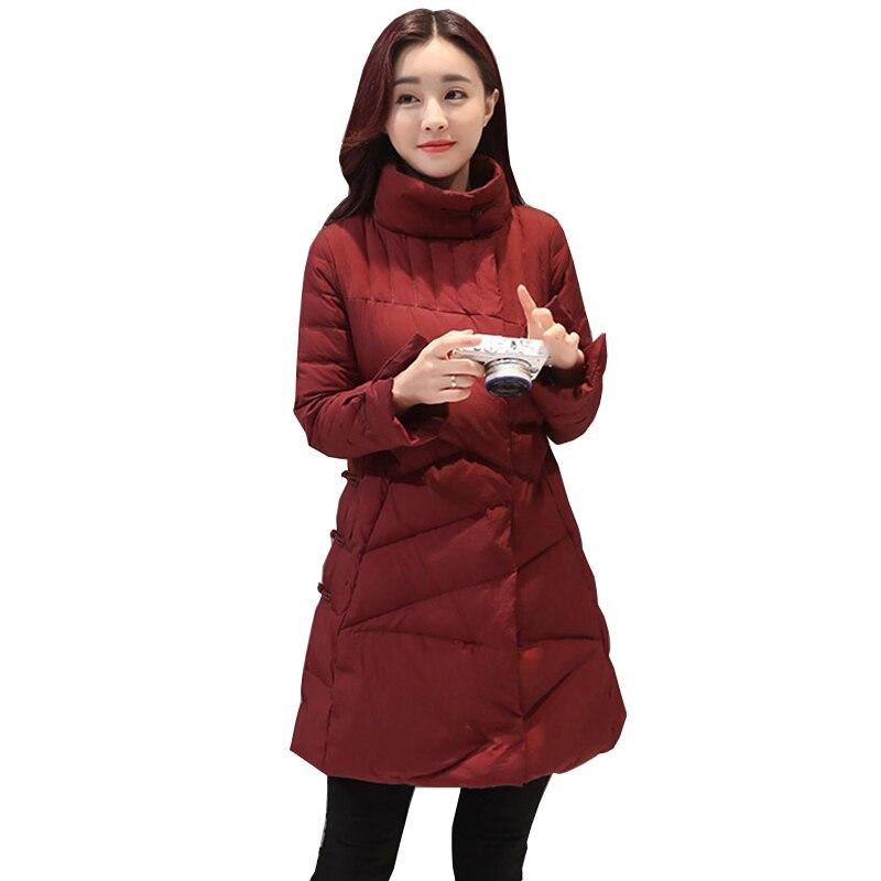Mode hiver veste femmes 2018 Nouveau occasionnel Bas veste femmes noir plus la taille femmes Parka casaco feminino jaqueta feminina NW820