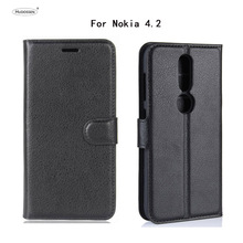 HUDOSSEN For Nokia 4.2 TA-1157 TA-1150 Case Luxury Wallet PU Leather Back Cover Phone Case For Nokia 4.2 Flip Protective Bag стоимость