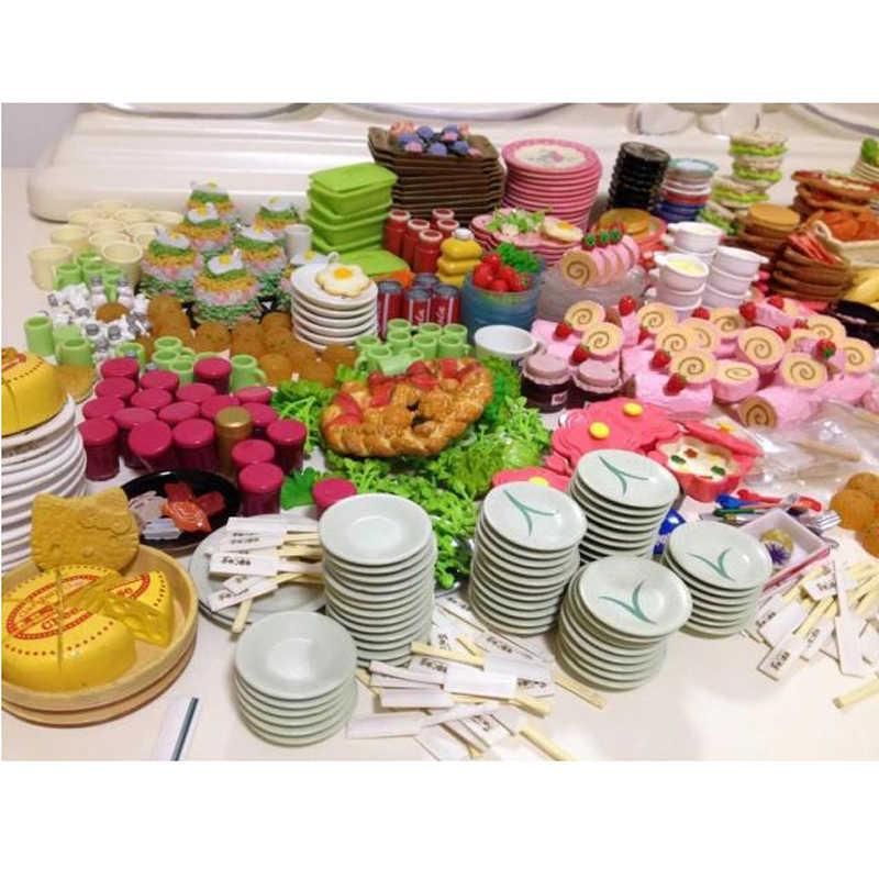 24 pçs/lote mini comida utensílios de mesa miniaturas casa de bonecas refeição bebida meganhouse para bjd barbies boneca casa cozinha jogar brinquedo