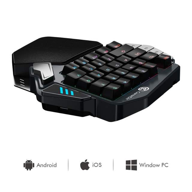GameSir Z1 Kailh Gaming Keypad for Mobile/PC games, AoV,Mobile Legends   One-handed Green Axis mechanical keyboard RGB blacklight