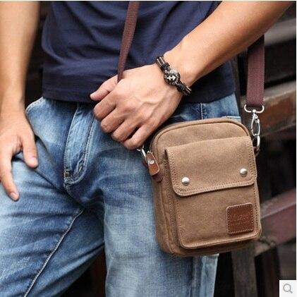 MUZEE vintage men messenger bag mini canvas travel bags Shoulder ...