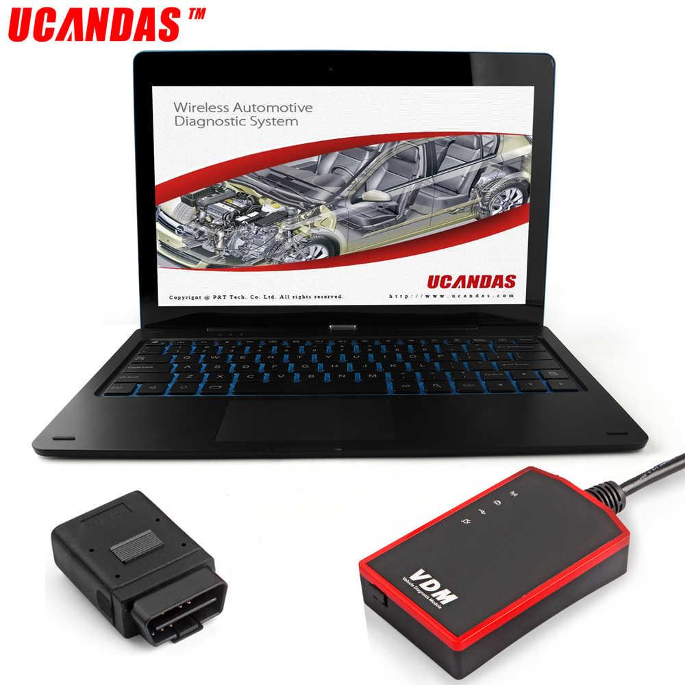 Ucandas VDM wi fi сканер полная система OBD2 автомобильный диагностический инструмент ABS