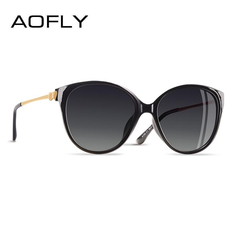 AOFLY diseño de marca 2019 tendencia mujeres polarizado de ojo de gato gafas de sol mujer gafas de sol de conducción de gafas amor templo UV400