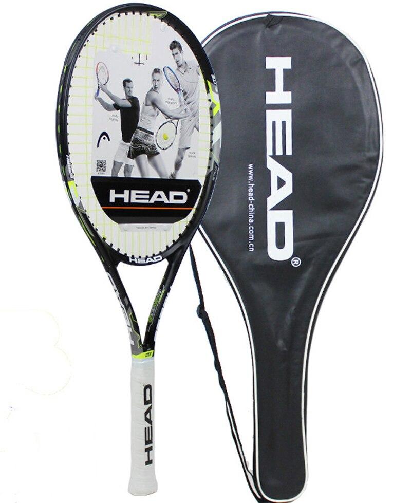 Original Head Tennis Racket Carbon Tennis Racquets Raqueta Tenis Padel Raqueta Tenis With Tenis Bag Grip Tennis Size 41/4-43/8