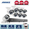 ANNKE HD 1080P 2.0MP 8CH PoE NVR IP Network Outdoor CCTV Home Security Camera System