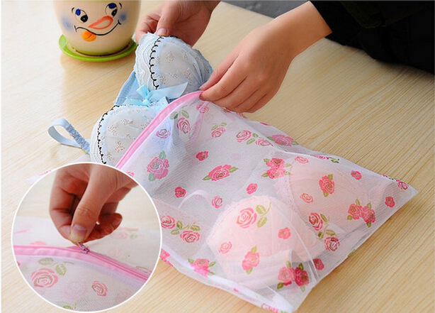 Free Shipping Printing Fine Mesh Laundry Bag To Wash Clothes Pouch Protection #5132