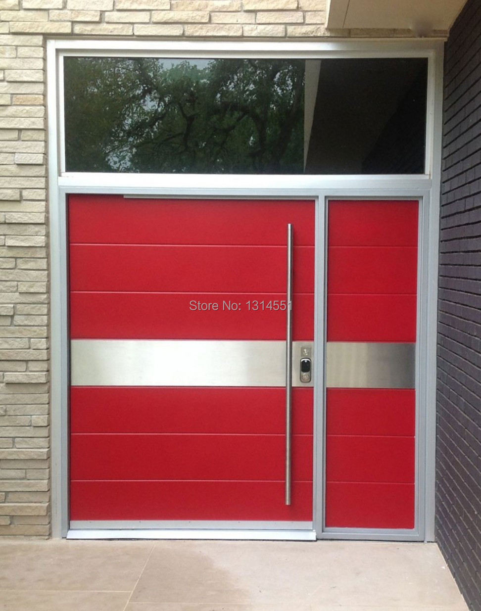 Exterior glass office door - Belle 64 Inches 1600mm Modern Stainless Steel Sus304 Entrance