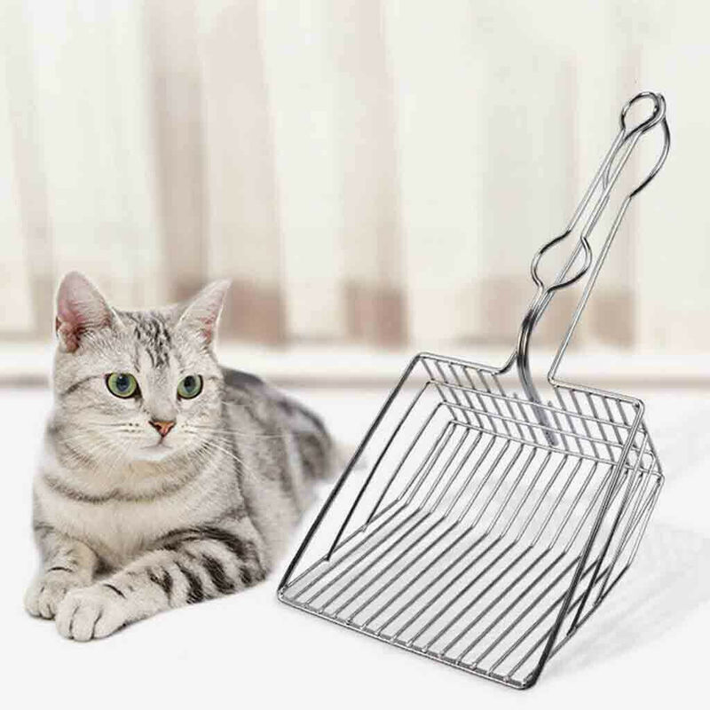 Shovel Scoop-Supplies Pets-Litter-Sand Pooper Shit Dogs Cleaning Stainless-Steel Cat