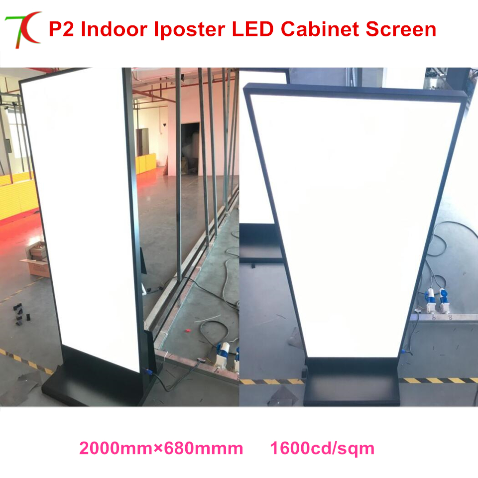 Customized Indoor Vertical Led Full Color Advertising Display Indooor Cabinet Led  Poster Screen