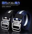 Brand belt Double loop buckle canvas belt men and women with a common nylon cloth belt high quality material leisure