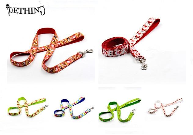 Hot Sale Fashion Nylon Christmas pet Dog Leash Puppy Dog lead Pet Products strong pet dog lead pet training lead S L supply