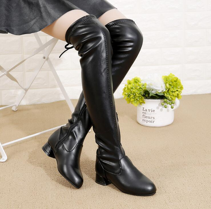 girls long leather boots