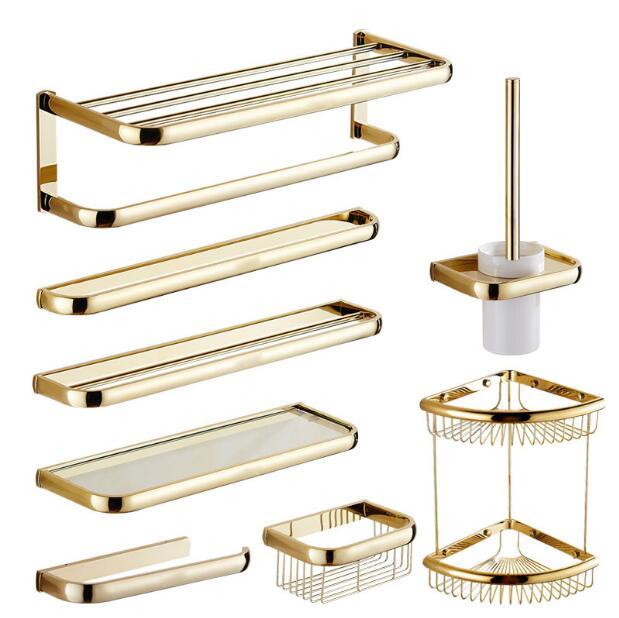Total brass gold finished Bathroom Accessories Set,Robe hook,Paper Holder,Towel Bar,Gold bathroom setsTotal brass gold finished Bathroom Accessories Set,Robe hook,Paper Holder,Towel Bar,Gold bathroom sets