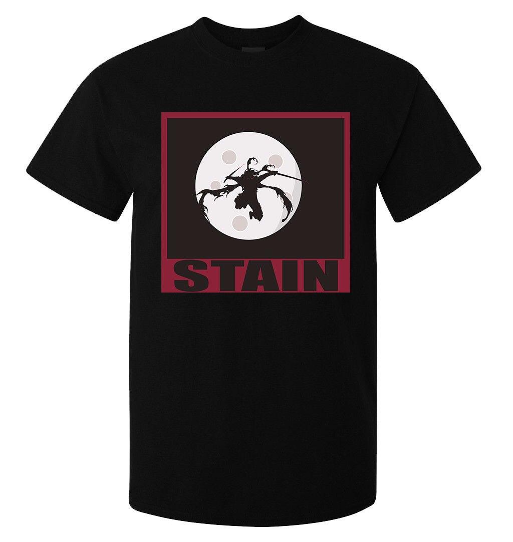 Gildan My Hero Academia Hero Killer Stain men's (woman's available) black t shirt top