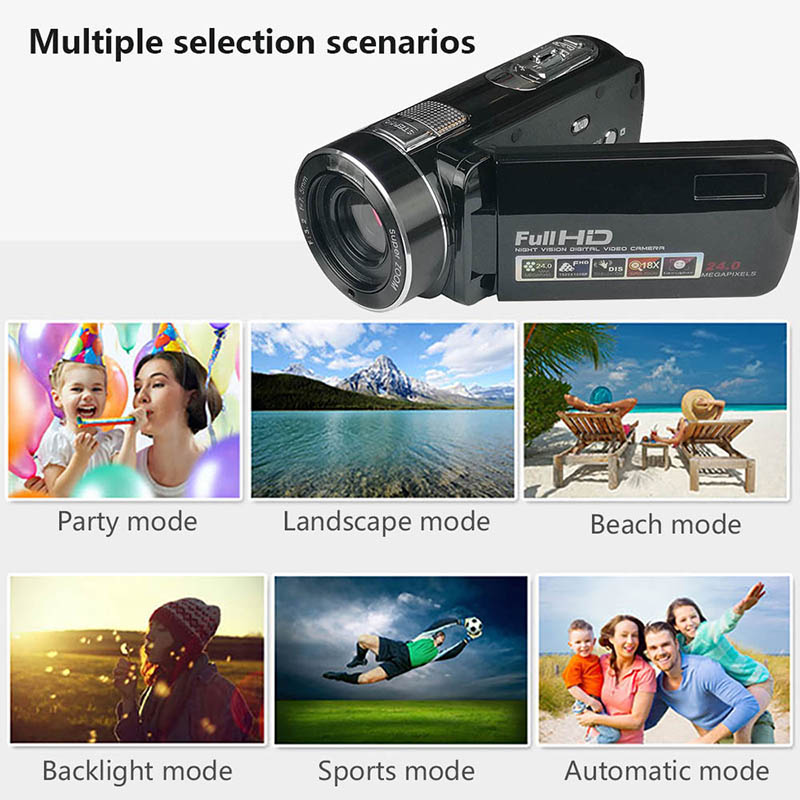 Digital Camera DV Video Camcorder Premium 3.0 TFT-LCD Control Anti Shaking Lens Shooting Face Detection