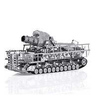 Railway Gun Tank Model 3D Laser Cutting Jigsaw Puzzle DIY Metal Model Nano Puzzle Kids Educational